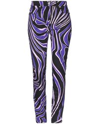 Versace Casual Trousers - Purple