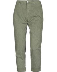 Care Label Denim Trousers - Green