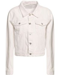 Anine Bing Denim Outerwear - White