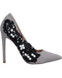 KG by Kurt Geiger Women's Bounty Embellished Side Court Shoes - Gray