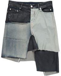 Rick Owens Denim Skirt - Black