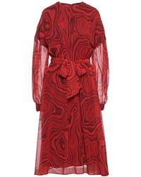 Stella Jean Midi Dress - Red