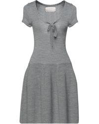 Betty Blue Short Dress - Grey