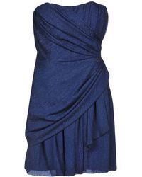 Space Style Concept Short Dress - Blue
