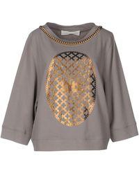 Elisabetta Franchi Sweatshirt - Gray