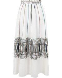 Le Sirenuse Falda larga - Blanco