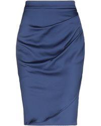 Armani Knee Length Skirt - Blue