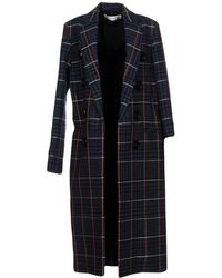 Victoria Beckham Houndstooth Embroidered Back Wool and Cotton Coat