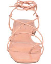 TOPSHOP Toe Post Sandals - Pink