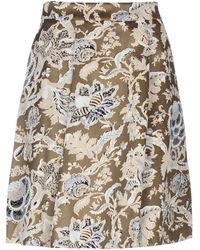 Purotatto Knee Length Skirt - Multicolour