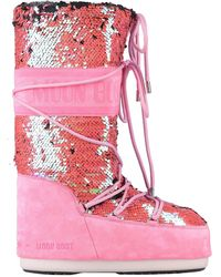 Moon Boot Boots - Pink