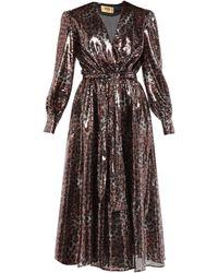 MSGM Leopard Print Dress - Brown