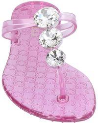 Le Silla Toe Strap Sandals - Purple