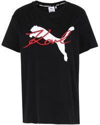 PUMA x KARL LAGERFELD - T-shirt - Lyst