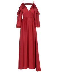 Space Style Concept Vestido largo - Rojo