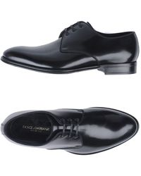 Dolce & Gabbana Patent-leather Derby Shoes - Black