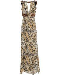 Philipp Plein Langes Kleid - Natur