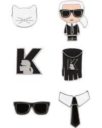 Karl Lagerfeld Brooch - Black