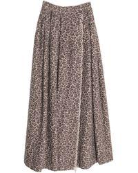 Max Mara Long Skirt - Natural