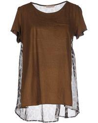 Erika Cavallini Semi Couture Camiseta - Marrón