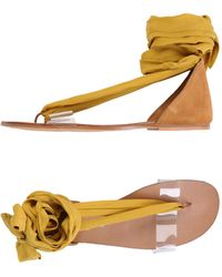 Free People - Toe Strap Sandals - Lyst