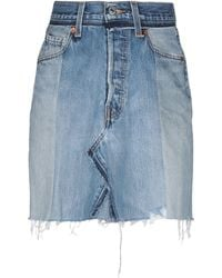 RE/DONE with LEVI'S Denim Skirt - Blue