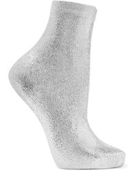 Maria La Rosa Short Socks - Metallic