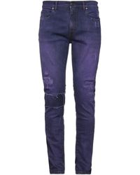 B-Used Denim Trousers - Purple