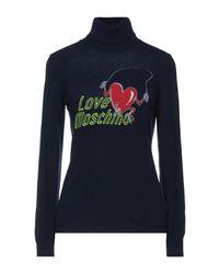 Love Moschino Cuello alto - Azul