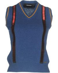 DSquared² Pullover - Bleu
