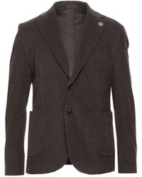 Exibit Suit Jacket - Brown