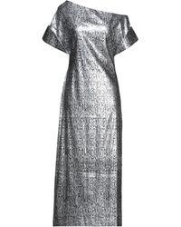 Christopher Kane Langes Kleid - Mettallic