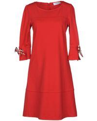 Anna Rachele Short Dress - Red