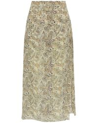 Haute Hippie Layered Printed Crinkled Silk-chiffon And Crepe Shorts Multicolour - Natural