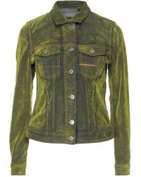 Care Label Denim Outerwear - Green