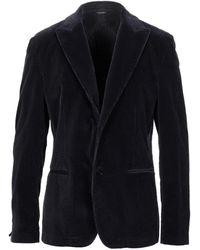 Grey Daniele Alessandrini Suit Jacket - Blue