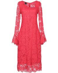 Pinko Vestido a media pierna - Rojo