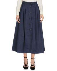 Incotex - 3/4 Length Skirt - Lyst