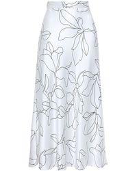 Equipment 3/4 Length Skirt - White