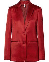 Helmut Lang Suit Jacket - Red