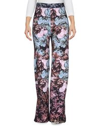 Clover Canyon Gold Leaf Drawstring Pull-On Pants - Blue