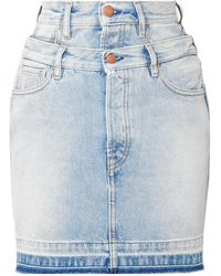 Aries Denim Skirt - Blue