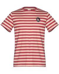 Kent & Curwen T-shirt rayé à patch logo - Rouge