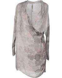 Emma & Gaia Short Dress - Gray