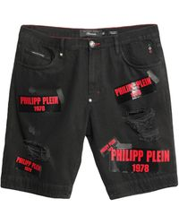 Philipp Plein Denim Bermudas - Black