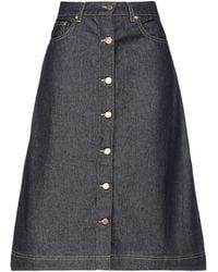 REMAIN Birger Christensen Denim Skirt - Blue