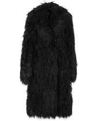 Paco Rabanne Teddy Coat - Black