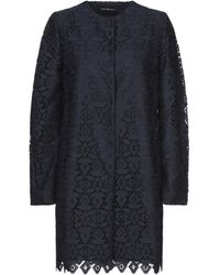 Emporio Armani Overcoat - Blue