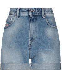 DIESEL Bermuda jeans - Blu
