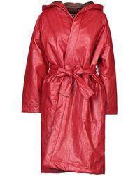 Hache Coat - Red